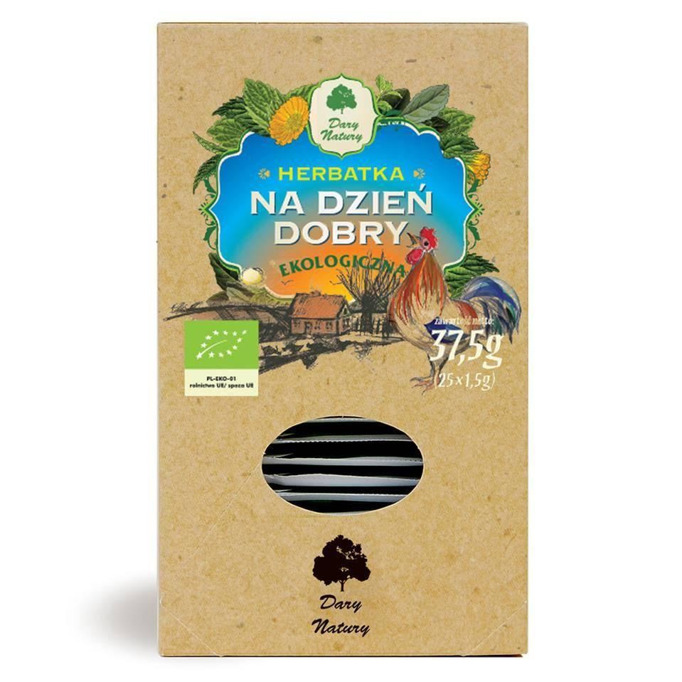 HERBATKA NA DZIEŃ DOBRY BIO (25x1,5G) - DARY NATURY
