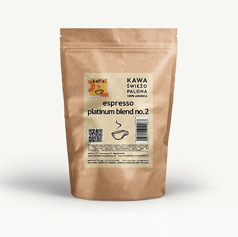 KAWA PALONA ESPRESSO PLATINUM BLEND NR.2 250G - KAFFA ETC