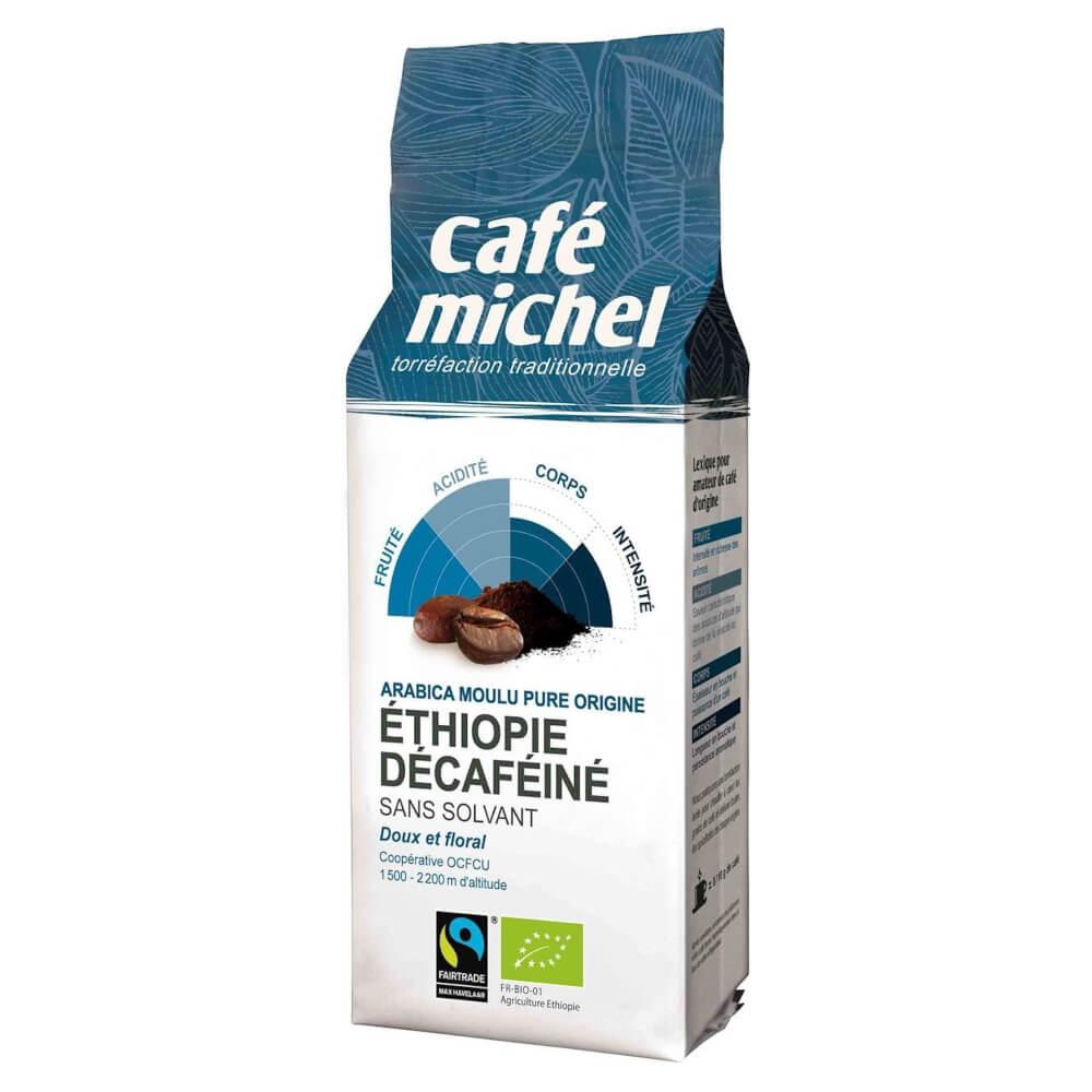 KAWA MIELONA BEZKOFEINOWA ARABICA ETIOPIA FAIR TRADE BIO 250 g - CAFE MICHEL