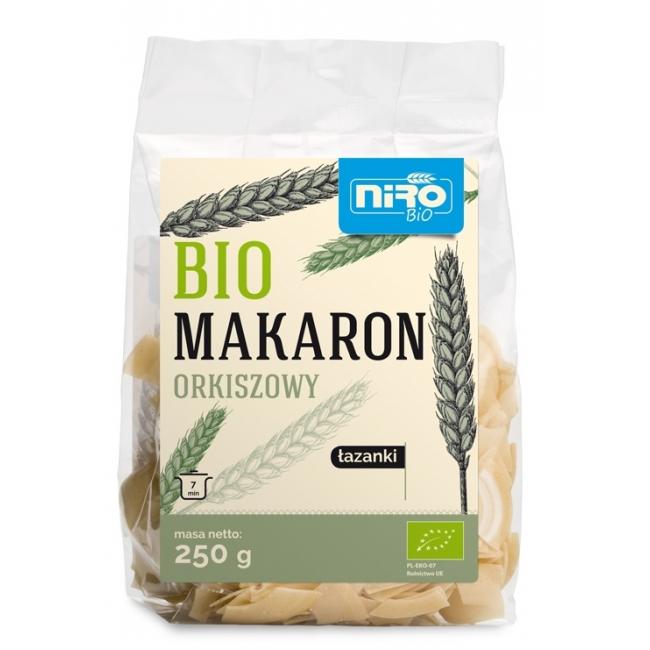 MAKARON (ORKISZOWY) ŁAZANKI BIO 250 g - NIRO